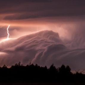 Burza w okolicach Rzeszowa, fotograf Paweł Litwin