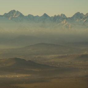 Widok na Tatry z Turbacza, fotograf Paweł Litwin