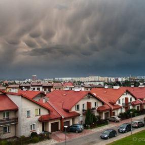 Chmury mammatus, Rzeszów
