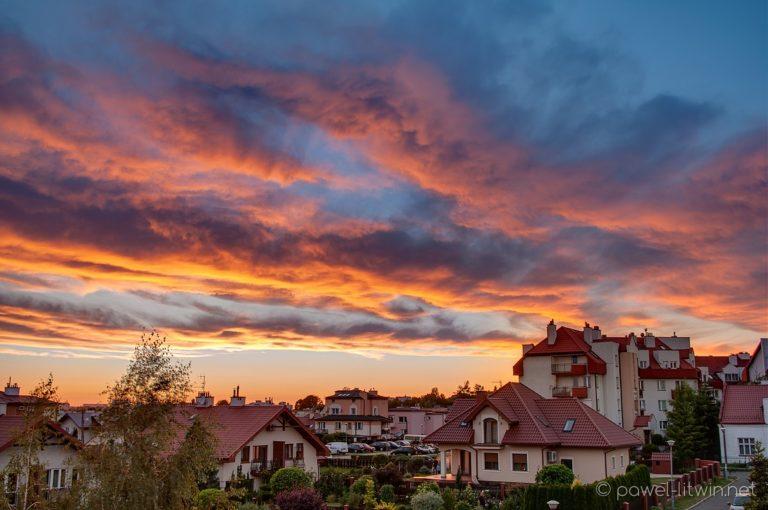 Zachód słońca, Rzeszów, fotograf Paweł Litwin