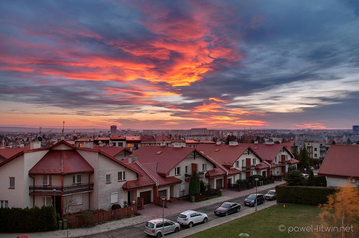 Zachód słońca nad Rzeszowem, fotograf Paweł Litwin
