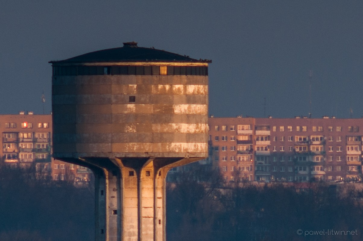 Wieża ciśnień, Ostrowiec Świętokrzyski, fotograf Paweł Litwin