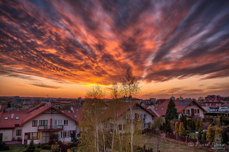 Zachód słońca nad Rzeszowem