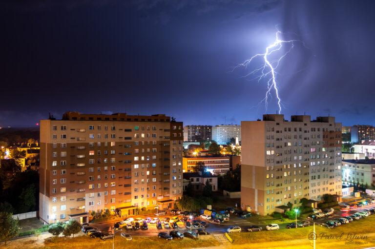 Burza nad Ostrowcem Świętokrzyskim, 22.08.2020