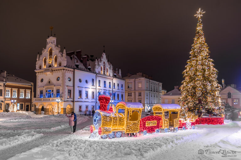 Rzeszowski rynek, zima 14.02.2021